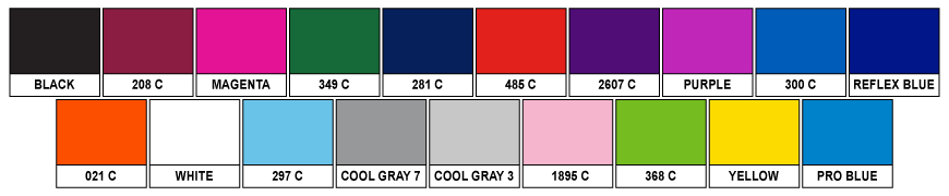 Stock Material Colours